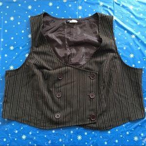 Jackets & Blazers - Brown Pinstriped Vest